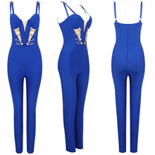 Load image into Gallery viewer, BEY PIN BANDAGE JUMPSUIT
