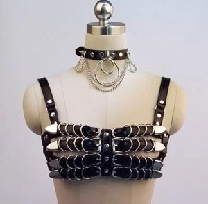 BOLD HARNESS BUCKLE BELTED SET