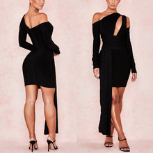Load image into Gallery viewer, DAZE HOLLOW LONG SLEEVE DRAPED BANDAGE DRESS