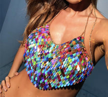 Load image into Gallery viewer, DRYN SCALE SEQUIN TOP