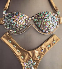 Load image into Gallery viewer, FESTIVAL RHINESTONE BIKINI SET