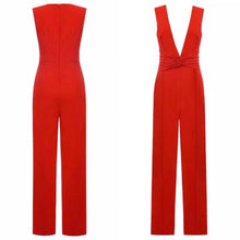 Load image into Gallery viewer, JILLY SLEEVELESS PLUNGE JUMPSUIT
