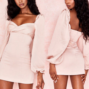 ONA PUFF SLEEVE FITTED MINI DRESS