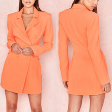 Load image into Gallery viewer, TWAY PLUNGE LONG SLEEVE JACKET DRESS