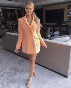 TWAY PLUNGE LONG SLEEVE JACKET DRESS