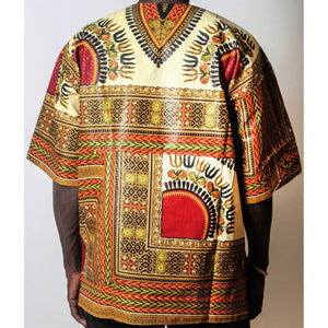 African Dream Cream Dashiki Men Top