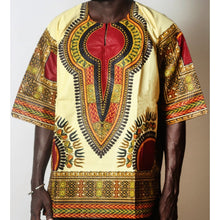 Load image into Gallery viewer, African Dream Cream Dashiki Men Top