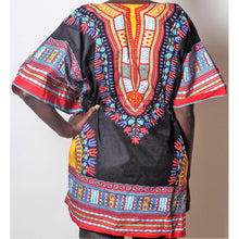 Load image into Gallery viewer, African Dream Black Dashiki Women Top