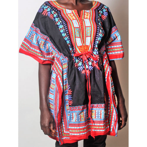 African Dream Black Dashiki Women Top