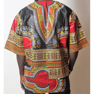 African Dream Black Dashiki Men Top