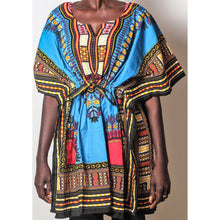 Load image into Gallery viewer, African Dream Blue Dashiki Women Top