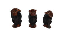 Load image into Gallery viewer, African Hear No Evil Say No Evil And See No Evil Monkey Set