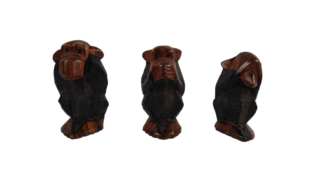 African Hear No Evil Say No Evil And See No Evil Monkey Set