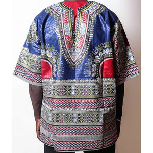 African Dream Dark Blue Dashiki Men Top