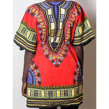 Load image into Gallery viewer, African Dream Red Dashiki Women Top