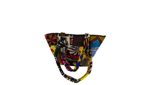 Mixed Ankara Pattern Shoulder Bag