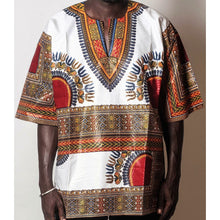 Load image into Gallery viewer, African Dream White Dashiki Men Top