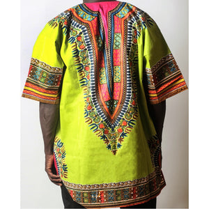 African Dream Light Green Dashiki Men Top