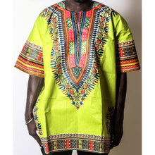 Load image into Gallery viewer, African Dream Light Green Dashiki Men Top
