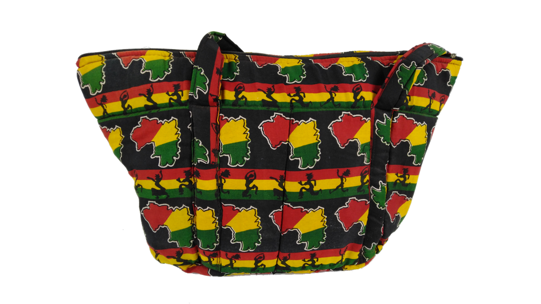 Dancing African Ankara Pattern Shoulder Bag