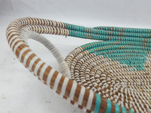 Load image into Gallery viewer, Light Blue African Handmade Traditional Table Basket Medium