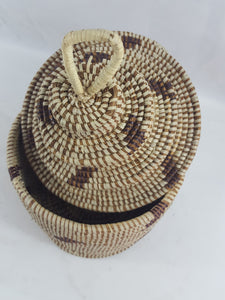 Simple African Handmade Traditional Table Basket Medium