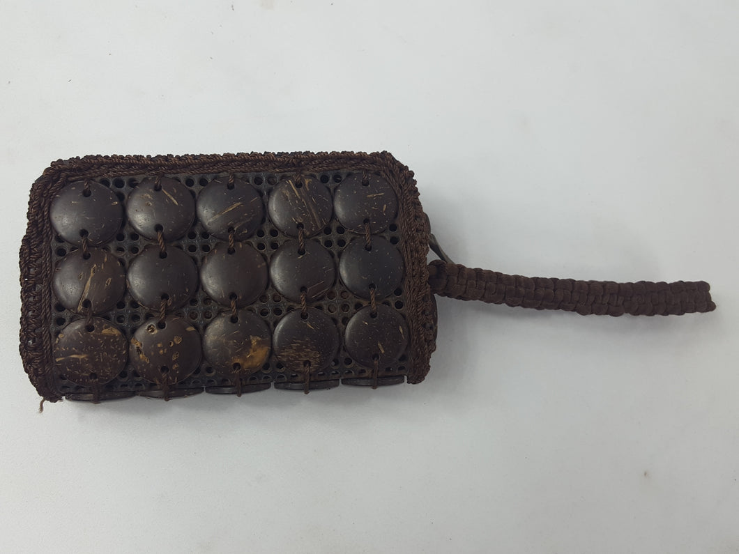 Brown African Handmade Coconut Pouch
