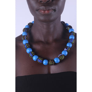 African Aqua Special Beads Necklace