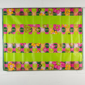 Green Flower Garden Traditional African Head Wrap