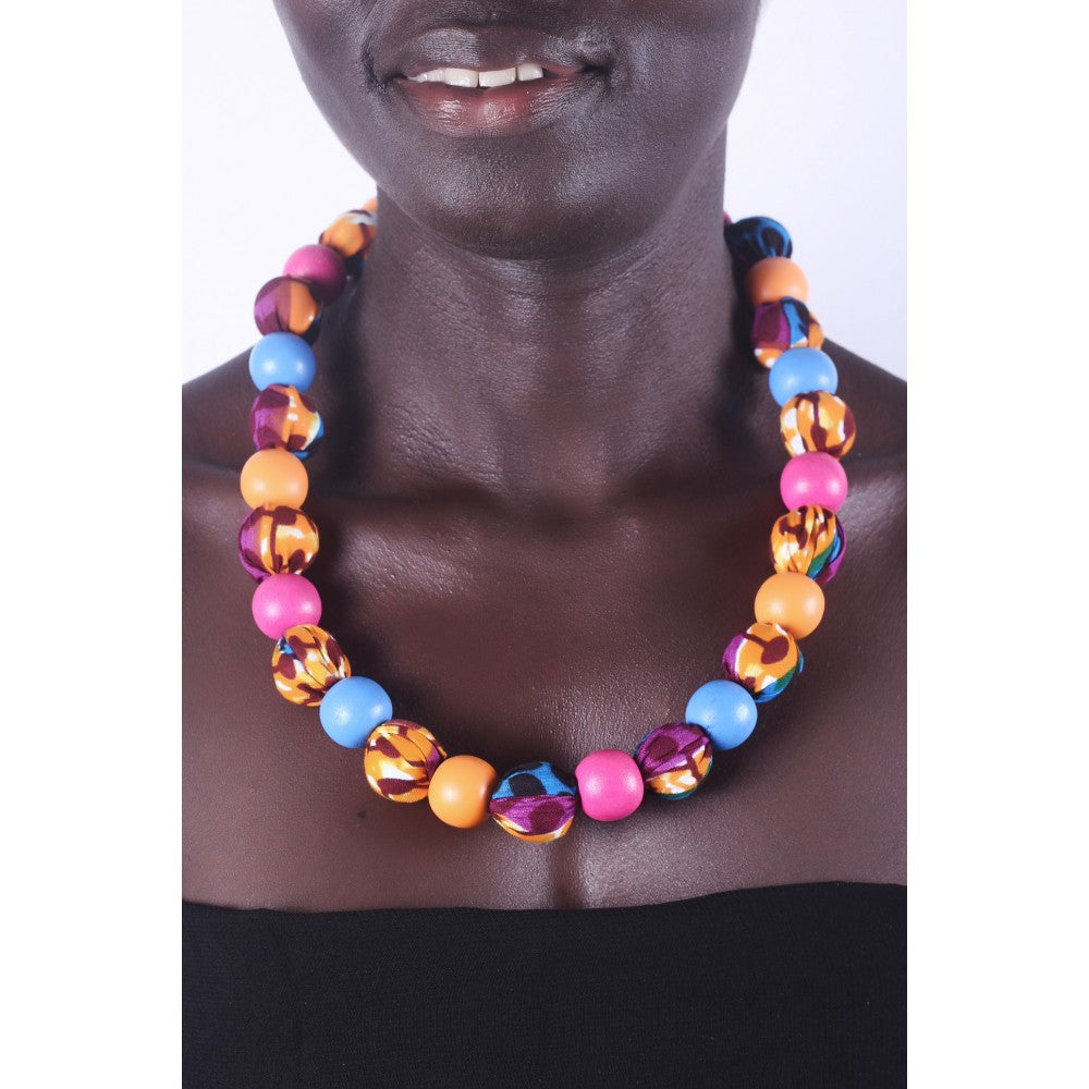 African Bubble Gum Special Beads Necklace