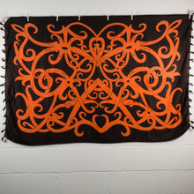 Load image into Gallery viewer, Sexy Orange & Black Traditional Cotton Wrap Around