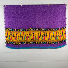 Load image into Gallery viewer, Sexy Purple Traditional Village Cotton Wrap Around