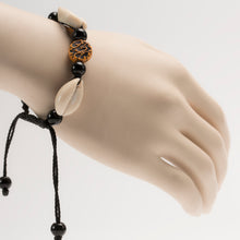 Load image into Gallery viewer, African Cowrie Shells With Traditional Motifs Bracelet