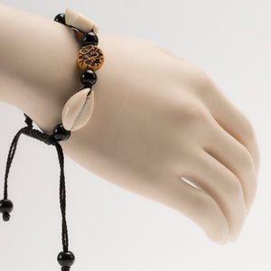 African Cowrie Shells With Traditional Motifs Bracelet