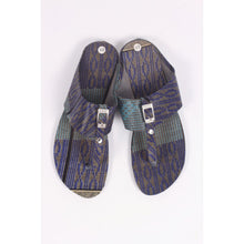 Load image into Gallery viewer, Cool Purple & Grey African Traditional Sandals