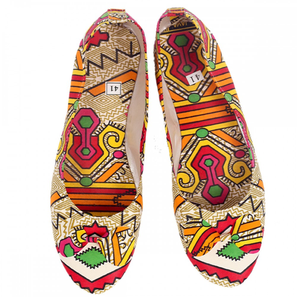 Cute & Colorful African Print Flat