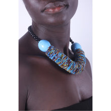 Load image into Gallery viewer, Funky Blue & Chunky African necklace