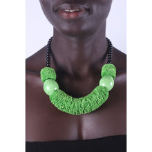 Load image into Gallery viewer, Light Green & Chunky African necklace