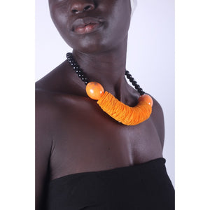 Orange & Chunky African Necklace