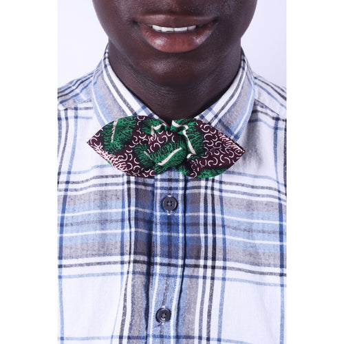 African Leaf Men Bow Tie