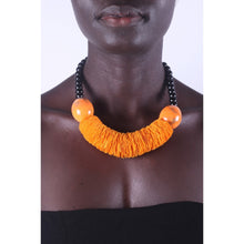 Load image into Gallery viewer, Orange & Chunky African Necklace