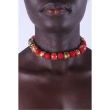 Load image into Gallery viewer, African Marble Rose Special Beads Choker