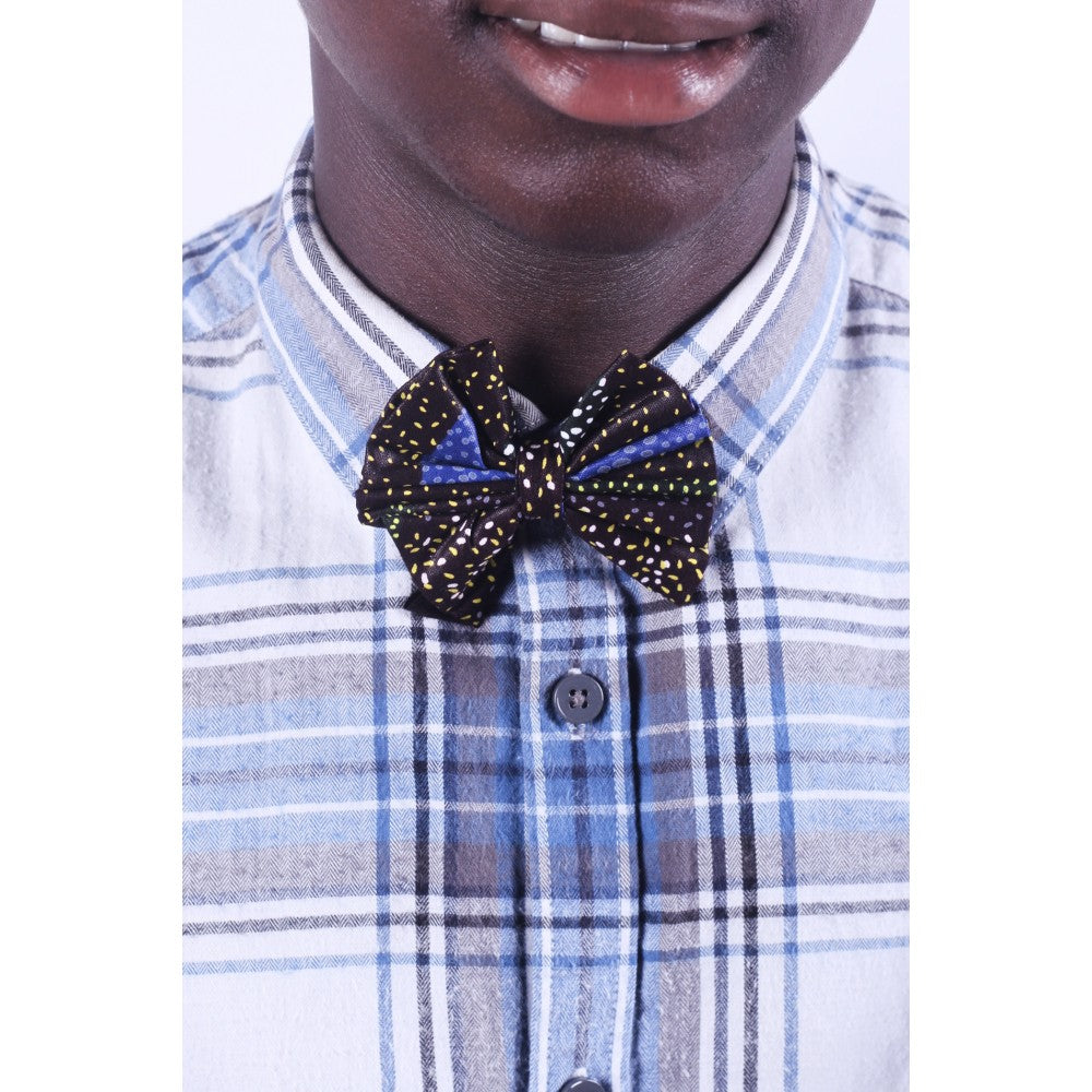 African Midnight Men Bow Tie