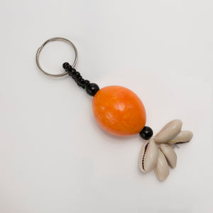 Orange African Egg Ball Key ring