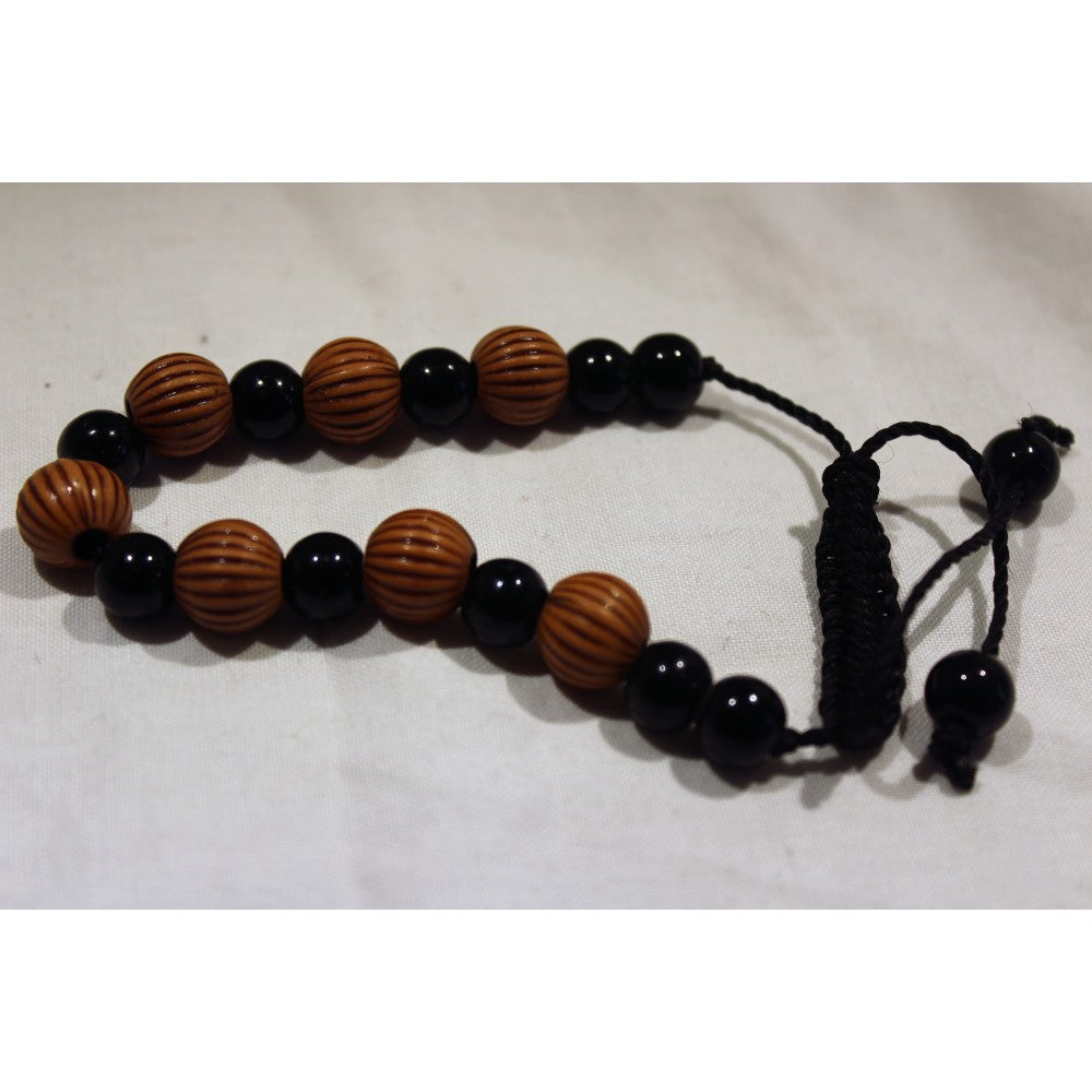 African Black & Brown Beads Bracelet