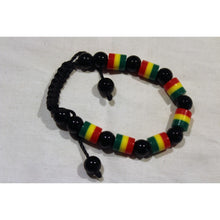 Load image into Gallery viewer, African Rasta Color Beads Bracelet