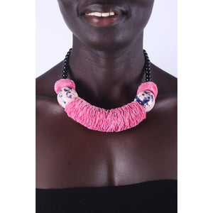 Pink & Chunky African necklace