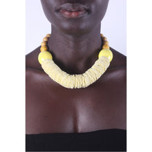 Load image into Gallery viewer, Light Yellow & Chunky African necklace