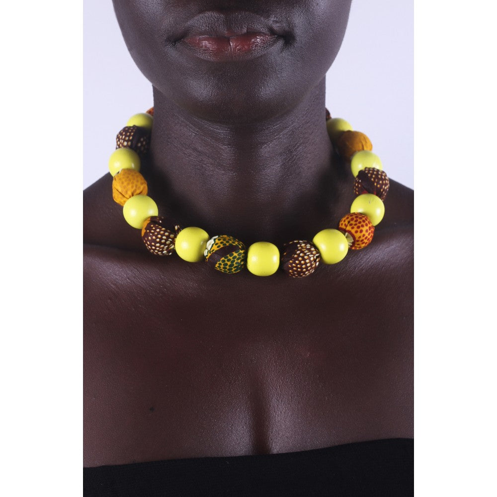 African Sun Flower Special Beads Necklace