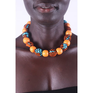African Sunset Special Beads Necklace